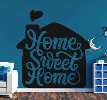 Pretty wall sticker design for children's room decoration. The wall sticker with  is in beautiful colors with home sweet home.