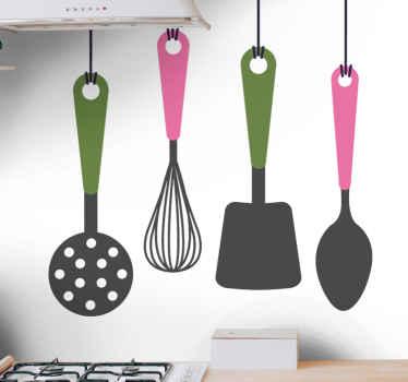 μαχαιροπήρουνα σετ τοίχου κουζίνας. διακοσμητικό σετ μαγειρικών σκευών σε κρεμάστρα. θα λατρέψετε την οθόνη στον χώρο της κουζίνας σας και την ομορφιά.