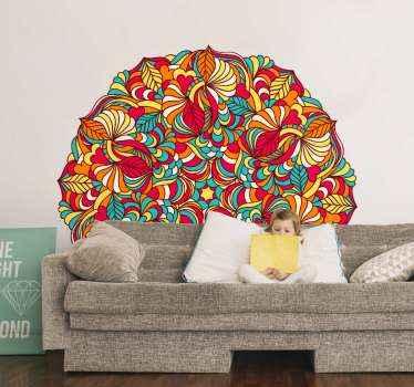 家の装飾のための美しい曼荼羅の花のステッカー。あなたが愛するであろう華麗で驚くべき外観であなたの家を去るためのカラフルなデザイン。