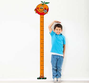 Height Chart Mascot Kids Sticker