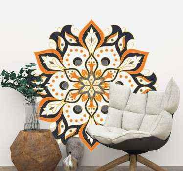 花びらのデザインの装飾用曼荼羅の適切なリビングルームの花のウォールステッカーのデザイン。それはオリジナルで、本当に簡単に適用できます。