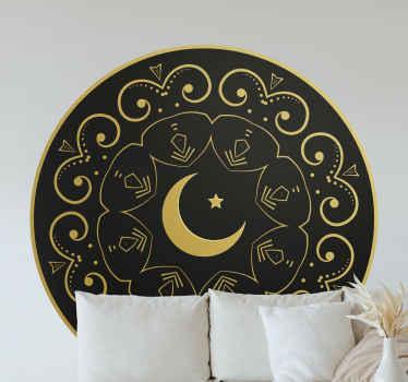 あなたがスタイリッシュにあなたの家を美しくするために倫理的な何かを探しているなら、月の花の壁のステッカーが付いているこの曼荼羅は素晴らしい選択です。