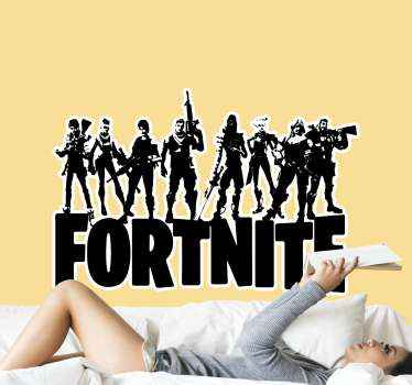 Wall stickers with Fortnite heros, perfect while decorating your flat. Easy to apply on a wall. Made of high quality vinyl.