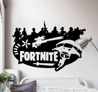 Wall stickers with Fortnite, perfect decoration for your kids room. Easy to apply, made of high quality vinyl. Check it out yourself.