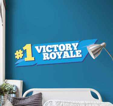 First in victory royal video game sticker. Simple sticker to crown your self as a number one on this fortnite game theme.