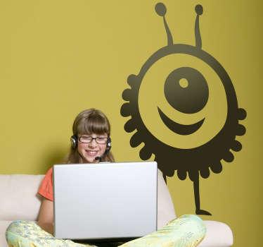 Kids Happy Alien Wall Sticker