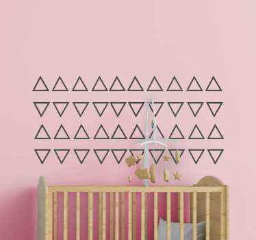Vinilos infantiles de triángulos para habitación infantil. El diseño contiene triángulos colocados en direcciones opuestas ¡Envío exprés!