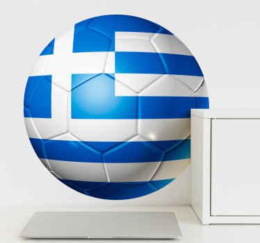 αυτοκόλλητο με ωραία και όμορφη ελληνική σημαία ποδοσφαίρου. όμορφο για σαλόνι, υπνοδωμάτιο και άλλους εσωτερικούς χώρους. μπορεί να διακοσμηθεί σε ένα γραφείο.