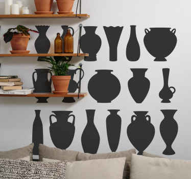 Nice and beautiful set of greek vases sticker. Beautiful for a living room, bedroom and other interior areas.  Buy it now.