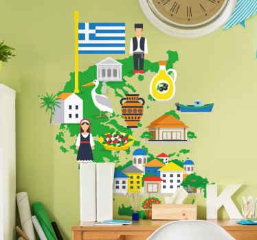 ψάχνετε για ένα συμβολικό εξοχικό αυτοκόλλητο της Ελλάδας; αυτό το σχέδιο θα ήταν τέλειο καθώς περιέχει σχέδια που απεικονίζουν χάρτη της Ελλάδας, σημαία, ανθρώπους.