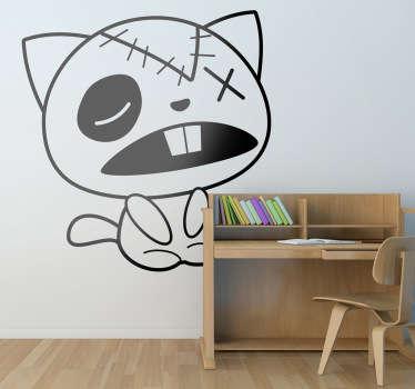Sticker decorativo gatto di pezza