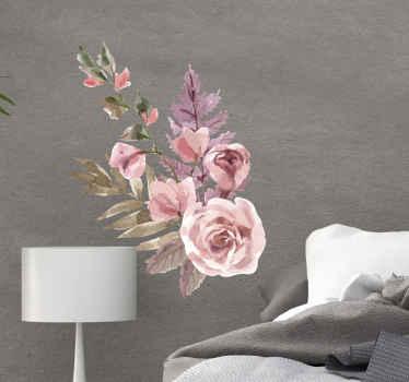 あなたの家のあらゆる部分に驚くべき効果を加えるための美しい水彩画の花の組成の花のステッカー。適用が簡単で高品質です。