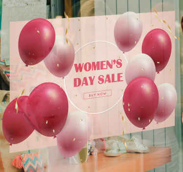 Everyone loves sales so let everyone know you are offering some discounts on this special women's day sale and make every woman happy.