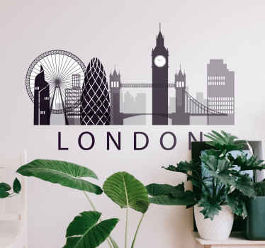 A London skyline sticker collection to decorate give your walls a wonderful look and the perfect decoration. High quality vinyl!