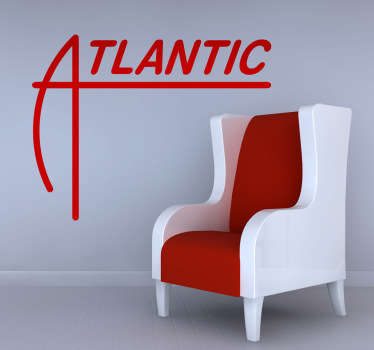 Atlantic Records Wall Sticker