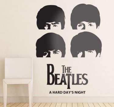 Sticker décoratif têtes Beatles