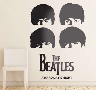 Adesivo murale teste Beatles