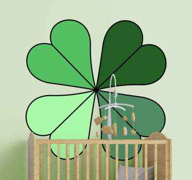 Different greens clover leaf plant wall decal.. Suitable to decorate any wall and other surfaces of your choice. Easy to apply and durable.