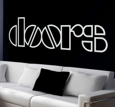 Naklejka na ścianę  logo The Doors