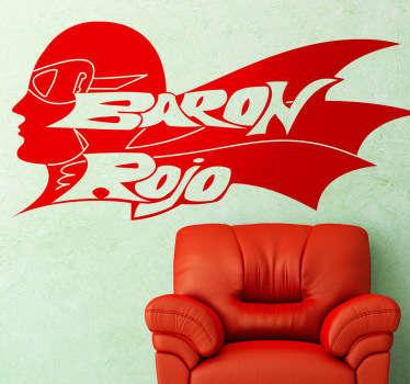 Barón Rojo Outline Logo Wall Sticker