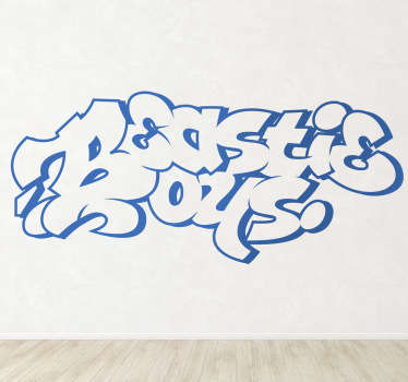 Beastie Boys Graffiti Wall Sticker