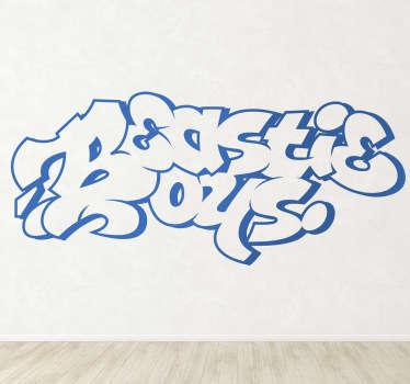 Beastie Boys Graffiti Wall Sticker