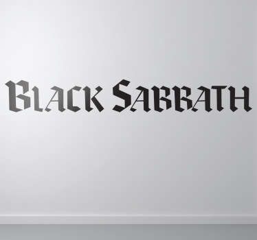 Adhesivo con el logotipo de la famosa banda de heavy fundada por el carismático Ozzy Osbourne.