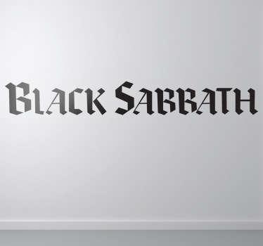 Adesivo murale logo Black Sabbath
