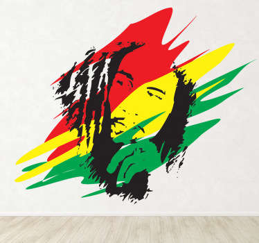 Sticker decorativo Bob Marley Giamaica