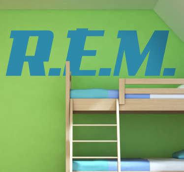 Vinilo decorativo logotipo REM