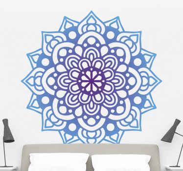 家や他のスペースの装飾のためのぼかし色の曼荼羅のウォールステッカー。それはオリジナルで、耐久性があり、選択した平らな面に簡単に適用できます。