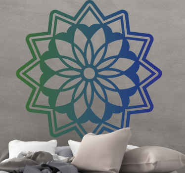 Lotus flower mandala floral wall sticker to make your space look amazing.  It is original and easy to apply. Available in any size you need.