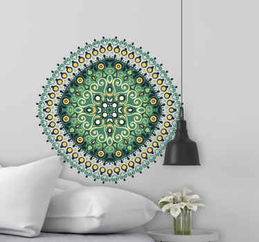 Ornamental ethnic mandala floral wall sticker. It is amazing and you would love it on your space. Available in any size you want and it is adhesive.