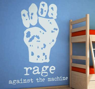 Dieses Wandtattoo des Logos der amerikanische Rockband Rage Against the Machine ist ideal für große Fans dieser Band.