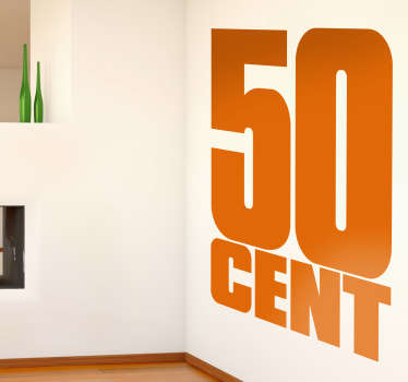 50 Cent Wall Sticker