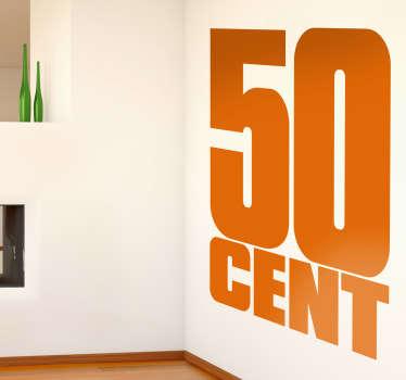 50 Cent Wall Sticker