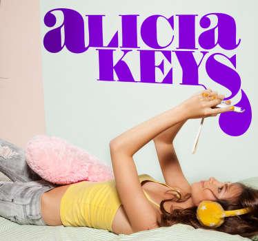 Sticker decorativo logo Alicia Keys