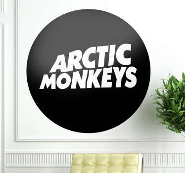 A logo sticker displaying the Arctic Monkeys emblem! Ideal wall decal for those that love this band are true fans!
