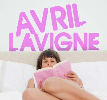 autocollant mural logo Avril Lavigne