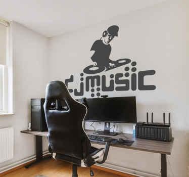 Naklejka dekoracyjna DJ music