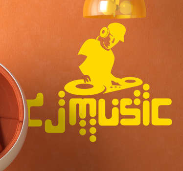 Dj музыкальная наклейка