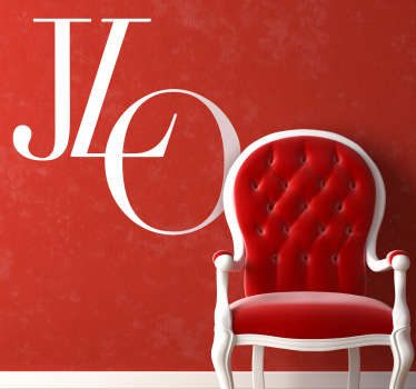 Sticker decorativo logo Jennifer Lopez