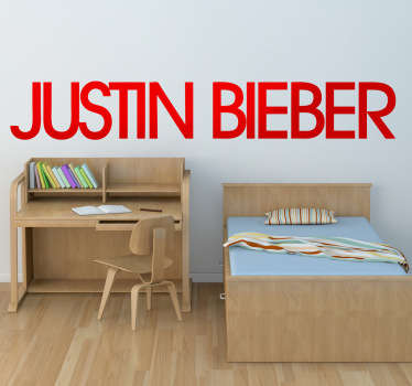 Vinilo decorativo Justin Bieber logo