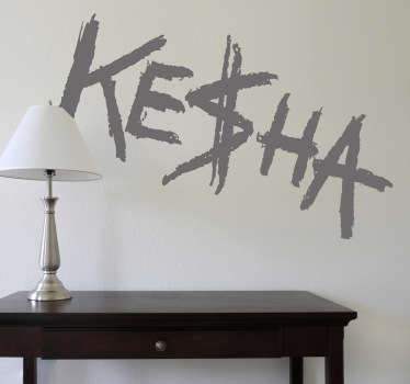 Vinilo decorativo Ke$ha