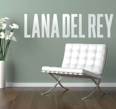 Sticker decorativo logo Lana Del Rey