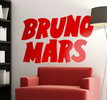 Bruno Mars Decorative Logo Sticker