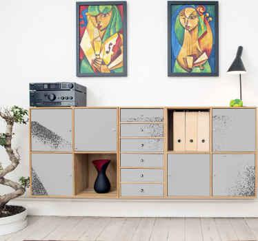 Maravilloso vinilo mueble de color gris y de estilo grunge con el que podrás decorar tu hogar. Elige las medidas ¡Compra ahora!