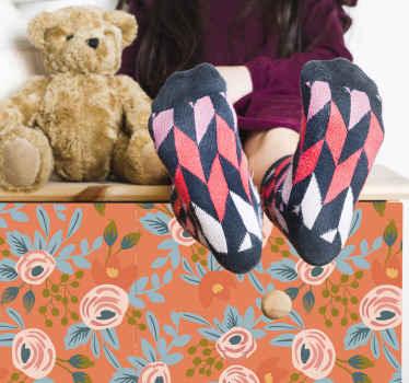 Papel adhesivo para muebles con rosas de acuarela para dormitorio infantil y otros muebles del hogar ¡Duradero, adhesivo y fácil de aplicar!
