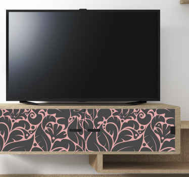 Fantástico vinilo mueble de patrón floral rosa para que decores tus muebles con un diseño original y único. Elige el patrón ¡Envío exprés!