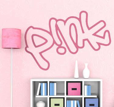 Naklejka dekoracyjna logo Pink